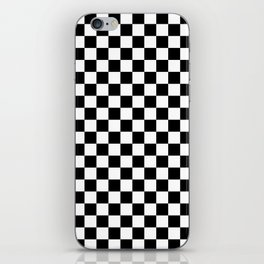 Checker (Black & White Pattern) iPhone Skin