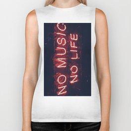No Music No life Biker Tank
