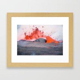 volcano #society6 #decor #buyart Framed Art Print