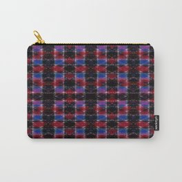 Cart Handle Semi-Plaid In Red, Pink, Blue, and Black Carry-All Pouch