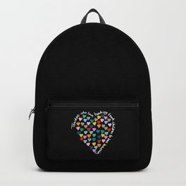 Hearts Heart Teacher Black Backpack