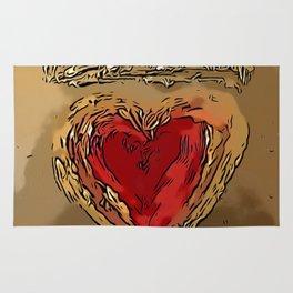 Crowned Heart Rug