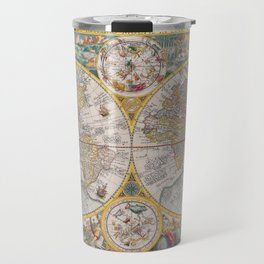Old Map of the World from 1594 Travel Mug