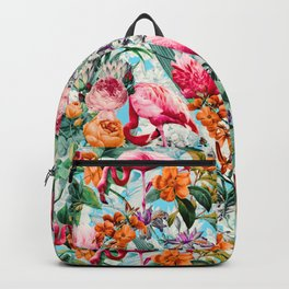 Floral and Flamingo VII pattern Backpack