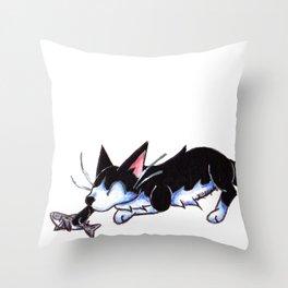 Sharknip Throw Pillow