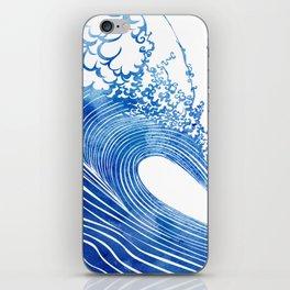 Blue Wave iPhone Skin