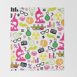 Neon Scientist Throw Blanket