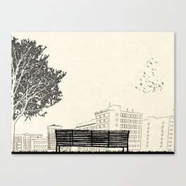 Tom's Favourite Spot — Angels Knoll Park, LA — (500) Days of Summer Canvas Print