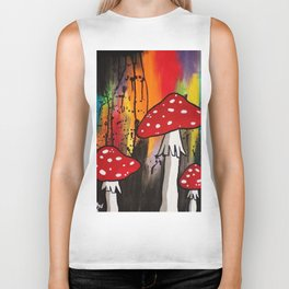 Magic Mushrooms Biker Tank