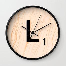 Scrabble Letter L - Large Scrabble Tiles Wall Clock