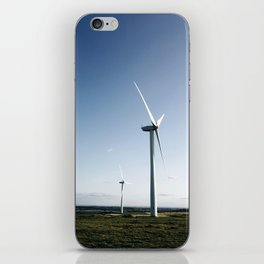 wind turbine in derbyshire iPhone Skin