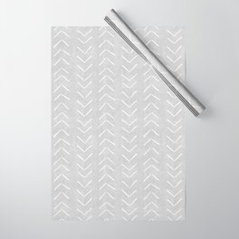 Mudcloth Big Arrows in Grey Wrapping Paper