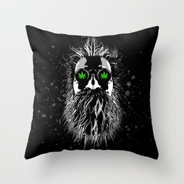 Old School Gardener Throw Pillow