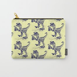 Tipsy Velociraptor with Beer Pattern Carry-All Pouch