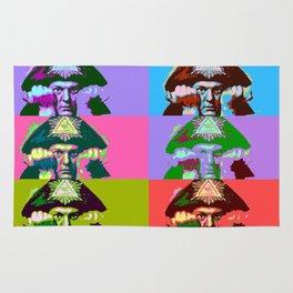 Aleister Crowley Pop Art Rug