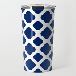 Royal Blue Quatrefoil Travel Mug
