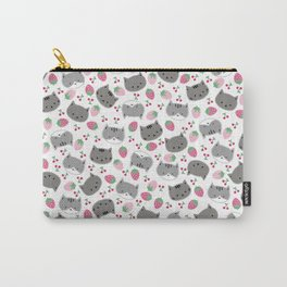 Meow cat love to eats strawberry & cherry Carry-All Pouch