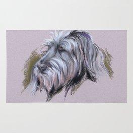Wolfhound Portrait Rug