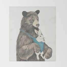 the bear au pair Throw Blanket