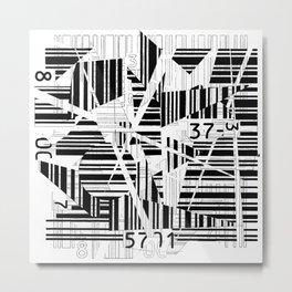 barcode cut Metal Print