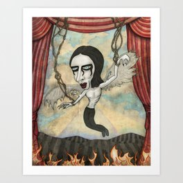 Rock Star Marionette Art Print