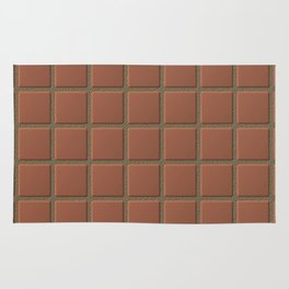 Terra Cotta Tiles with Sandy Grout Rug