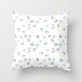 Silver Dollar Eucalyptus Throw Pillow