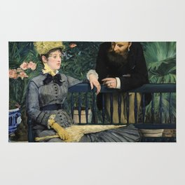Edouard Manet - In the Conservatory Rug
