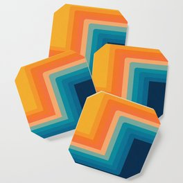 Retro 70s Color Lines Coaster