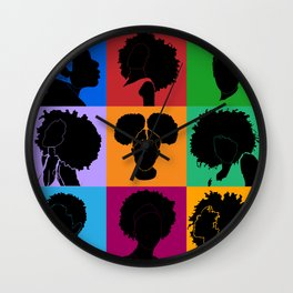 FOR COLORED GIRLS COLLECTION COLLAGE Wall Clock