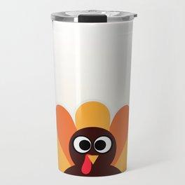 New! Cute cartoon turkey : Orange, yellow Travel Mug