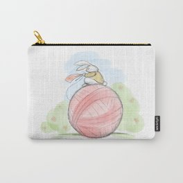 Bunny on a Ball Carry-All Pouch