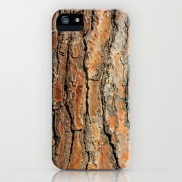 Bark 05 Red Brown iPhone Case