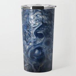 Swirling Blue Clouds of Planet Jupiter from Juno Cam Travel Mug