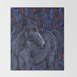 Valor the Mustang Throw Blanket