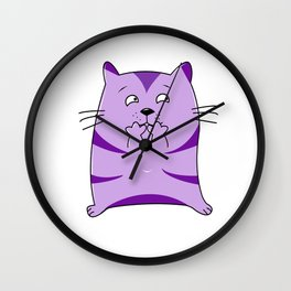 Fraidy Cat Wall Clock