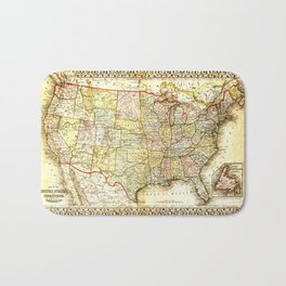 1867 USA Map Bath Mat
