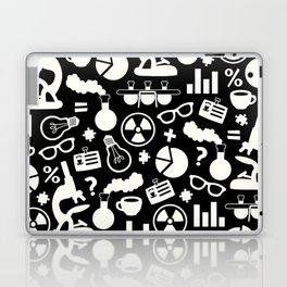 Black and White Science Pattern Laptop & iPad Skin