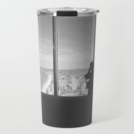 Black and white SKYPOINT Travel Mug
