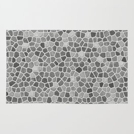 Faux Mosaic in light grays Rug