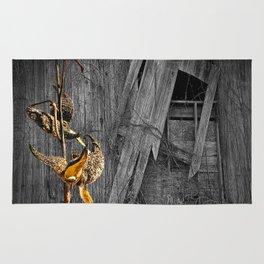 Milkweed Pods and Barn Wall Rug
