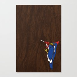 Modern Day Woodpecker Canvas Print