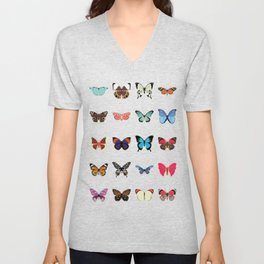 Butterflies Unisex V-Neck