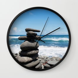 Rock tower Wall Clock