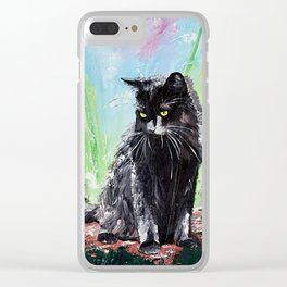 My little cat - kitty - animal - by LiliFlore Clear iPhone Case