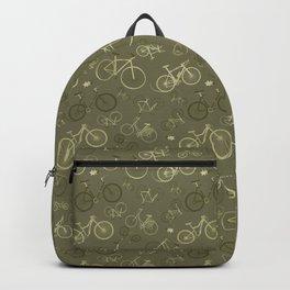 I love bikes in army green Backpack