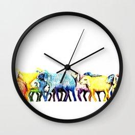 Counting Sheep Wall Clock