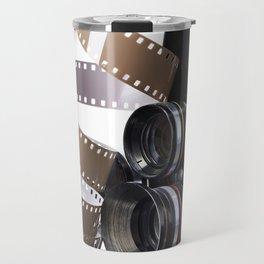 Retro movie camera and reel film Travel Mug