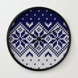 Winter knitted pattern 9 Wall Clock