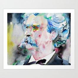 MARK TWAIN - watercolor portrait.2 Art Print